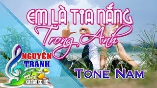 [Karaoke nhạc sống] Em Là Tia Nắng Trong Anh - Tone Nam