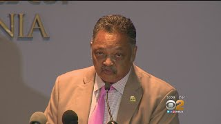 'We Should Be Building Bridges, Not Walls:' Jesse Jackson Takes Aim At Trump At LA Rally