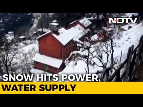 Shimla Facing Disrupted Electricity, Water Supply After Welcome Snowfall