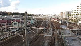 JR東日本・成田エクスプレス笠間跨線橋通過(East Japan Railway)