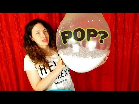 Making Floam Slime With Giant Balloons Popping - Izabela Stress