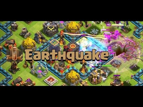 Clash of Clans - How to use the Earthquake Spell! (Guide)