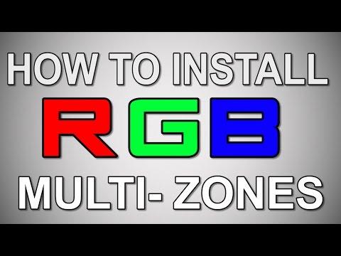 LED light strip RGB multiple zones