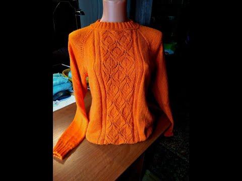 Подробный мастер класс по вязанию женского джемпера Часть 1 #мастеркалсс #вязание #knitting #лучшее