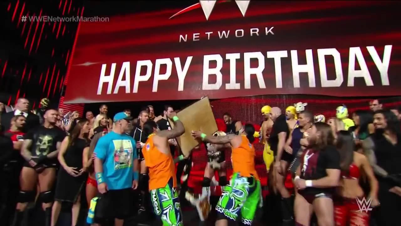 WWE Superstars and Diva wish WWE Network a happy birthday YouTube