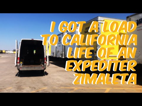 I Just got a Load To California Life of an Expediter in a Mercedes Sprinter Season 3
