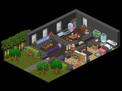 Construindo casa moderna doovi for Casa moderna habbo