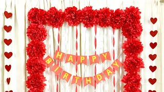 Easy Birthday Decoration ideas |  Surprised Birthday Decoration for loved one