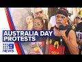 Indigenous Australians protest 'Invasion Day' | Nine News Australia