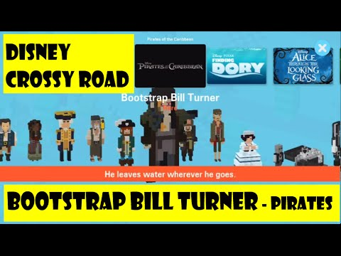 Disney Crossy Road Game , Pirates of the Caribbean Level , Bootstrap Bill  Turner Gameplay