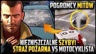 Niezniszczalne szyby w autach oraz mokry motocyklista :D - Niko w roli pogromcy mitów w GTA 4 #04