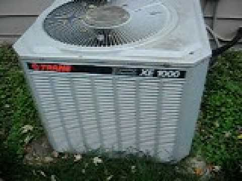 Trane Xe1000 Air Conditioner Youtube