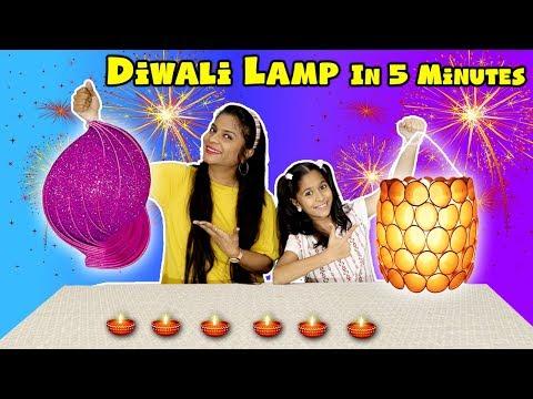 Kids Making Diwali Lamp In 5 Minutes | Easy Diwali Lamp In Just 5 Minutes | Pari's Lifestyle