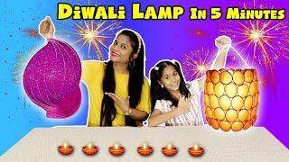 Download Kids Making Diwali Lamp In 5 Minutes | Easy Diwali Lamp In Just 5 Minutes | Pari's Lifestyle