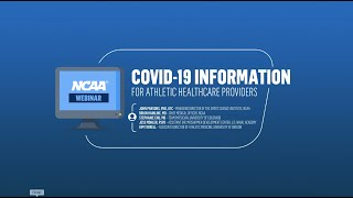 COVID-19 Information for Athletics Healthcare Providers