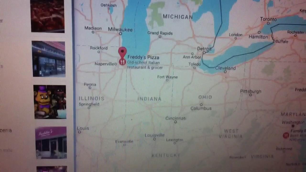 Freddy fazbears pizza proof on google maps