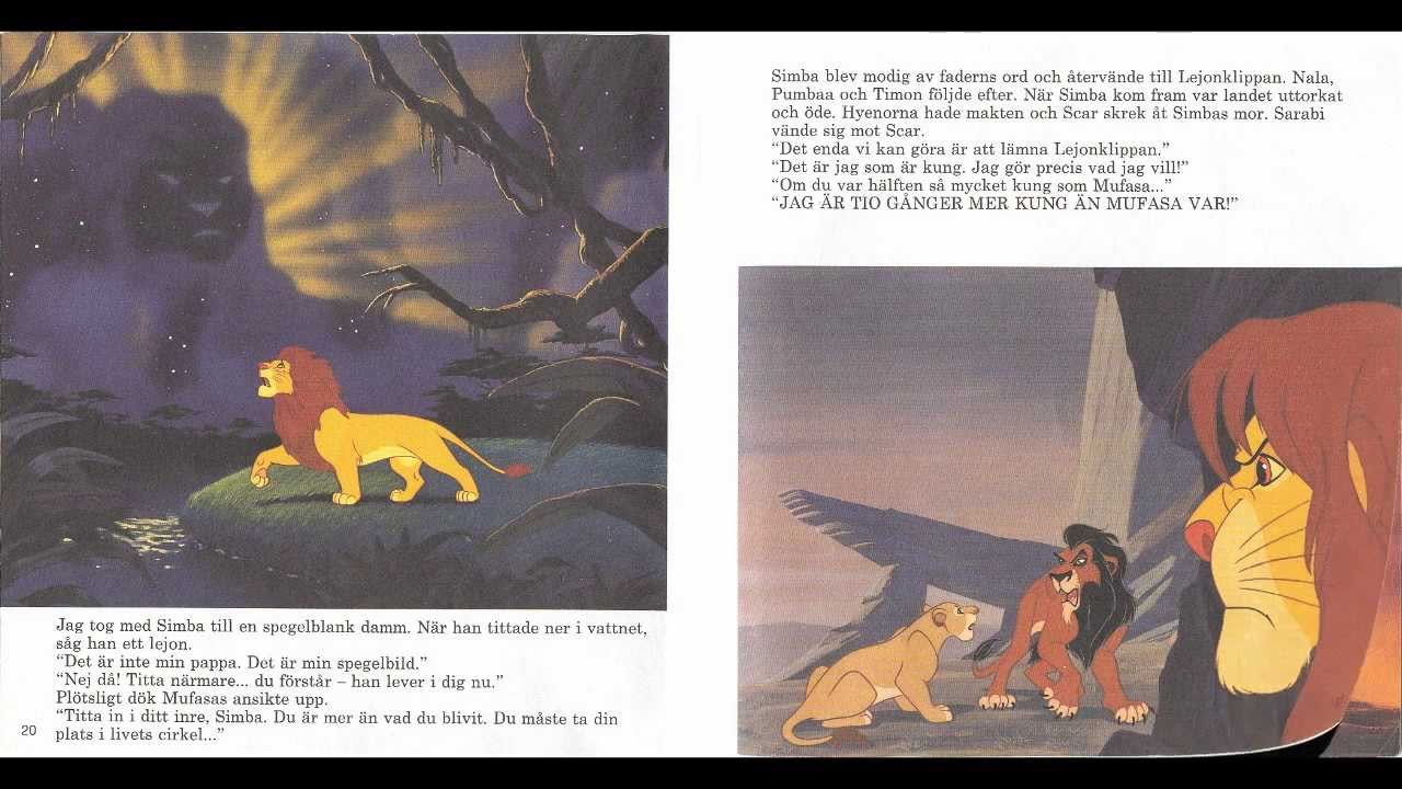 Disney Read Along The Lion King SWEDISH  YouTube