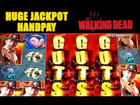 HUGE MEGA JACKPOT HANDPAY! - The Walking Dead - MEGA HUGE Slot Machine Bonus - 동영상