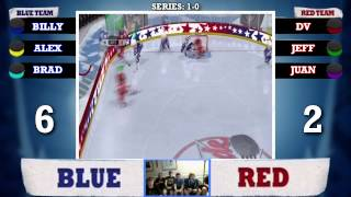 HITTING DOWN GOALIE | 3 on 3: NHL Arcade - Series 1, Game 2