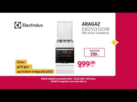Reclamă ALTEX aragaz Electrolux aprilie 2015