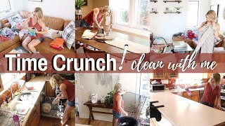 SPEED CLEAN WITH ME ON A TIME CRUNCH | DOING WHAT I CAN | SAHM