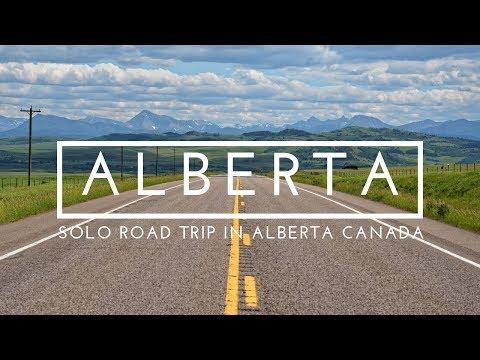 ALBERTA ROAD TRIP - Solo Road Trip in Alberta Canada