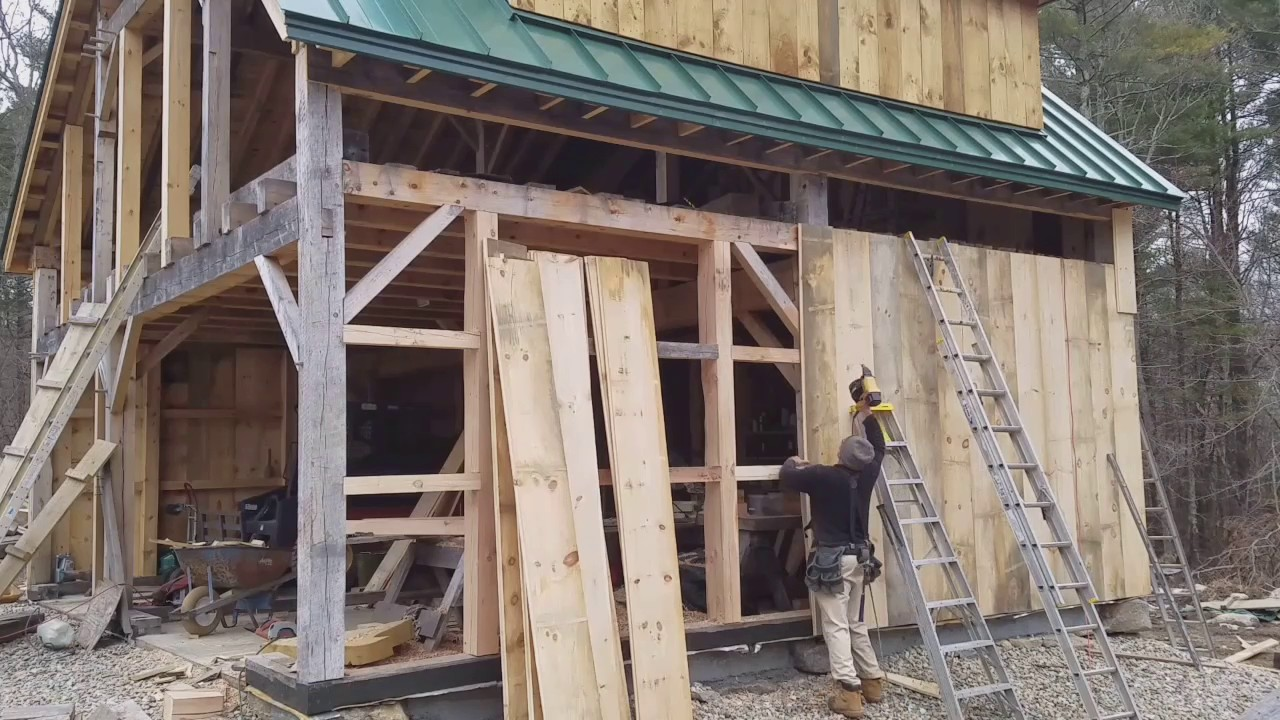 Christopher Lamontagne Installing Barn Board Siding Youtube