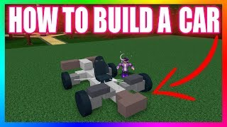ROBLOX Build A Boat For Treasure. HOW TO BUILD A CAR [Tutorial] Very Easy!