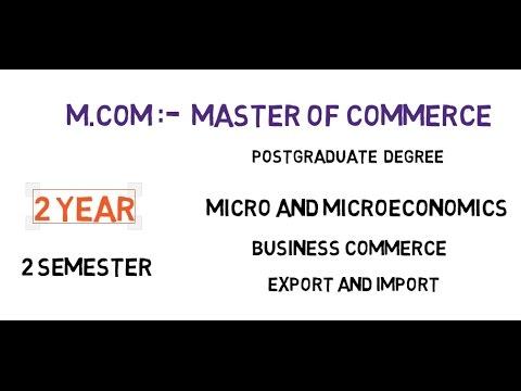 What is M.COM? M.COM Kya Hai (Hindi/Urdu) MansoorMB