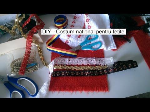 DIY - Costum national pentru fetite