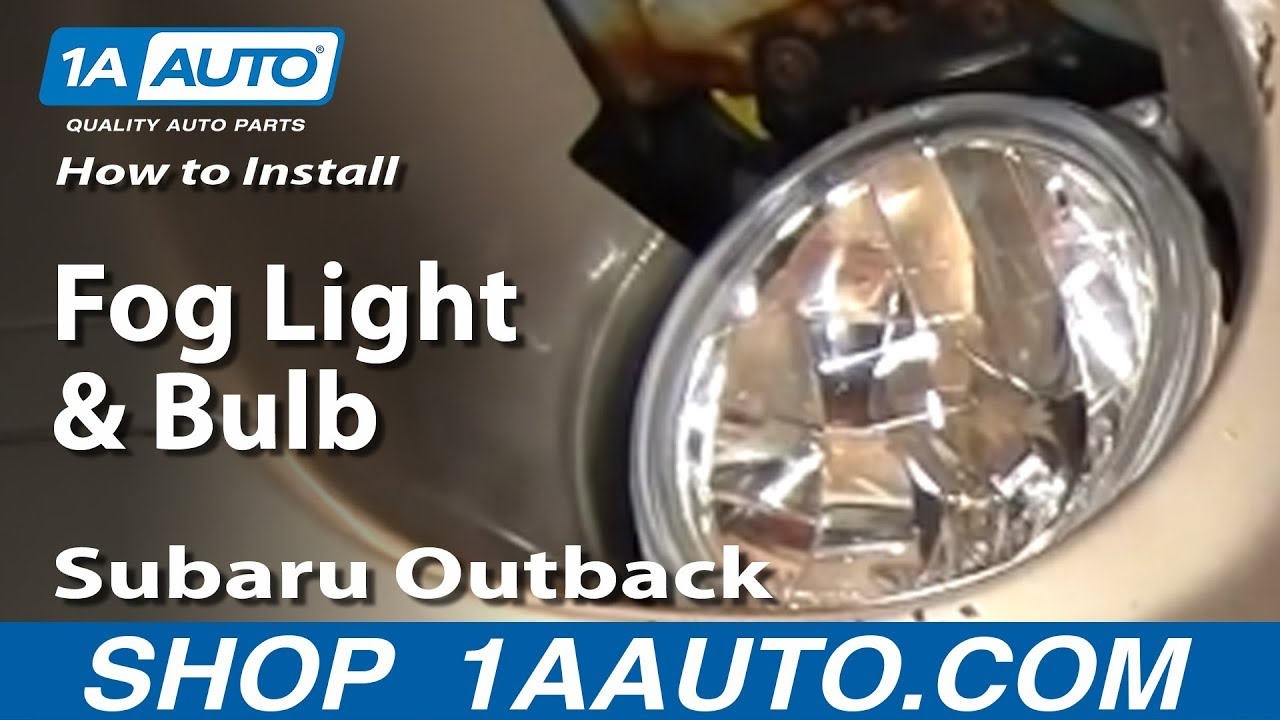 how to install replace fog light and bulb subaru outback 00 04 1aauto com youtube [ 1920 x 1080 Pixel ]