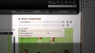 FIFA MANAGER 11: Line-Up & Tactics