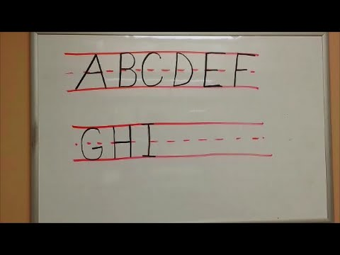 How to Print - Write Capital Letters - Uppercase Letters - YouTube
