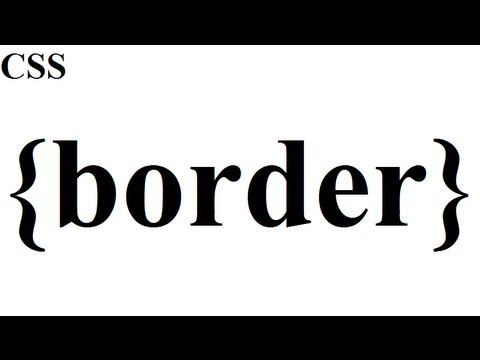 CSS How To: Border