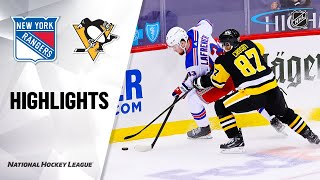 NHL Highlights | Rangers @ Penguins 1/22/21