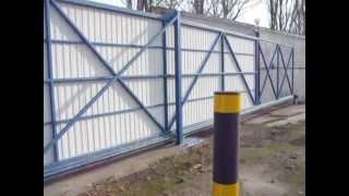 Откатные автоматические ворота, проем 10 метров Херсон(Изготовление и монтаж ворот откатных, распашных, секционных, роллетных. Металлоизделия и сварочные работы..., 2015-12-03T15:51:52.000Z)