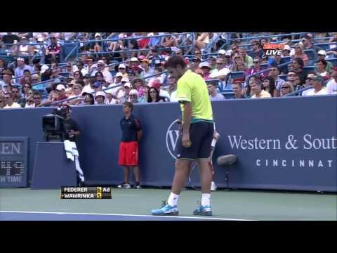 ATP 2012 Cincinnati SF Federer vs Wawrinka ENG