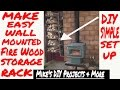 DIY Easy Fire Wood Storage Rack