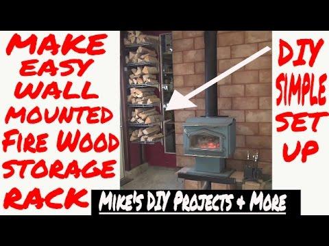 """DIY Easy Fire Wood Storage Rack """"Designer  EP  7 of 7"""