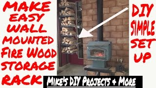 DIY Easy Fire Wood Storage Rack Designer EP 7 of 7