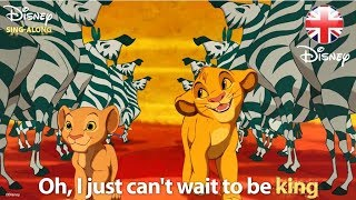 DISNEY SING-ALONGS | I Just Can't Wait To Be King - The Lion King Lyric Video | Official Disney UK