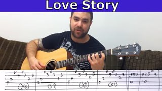 Tutorial: Love Story (Sungha Jung's Arr.)  - Guitar Lesson w/ TAB