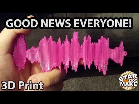 3D Printed Audio Waveform Project