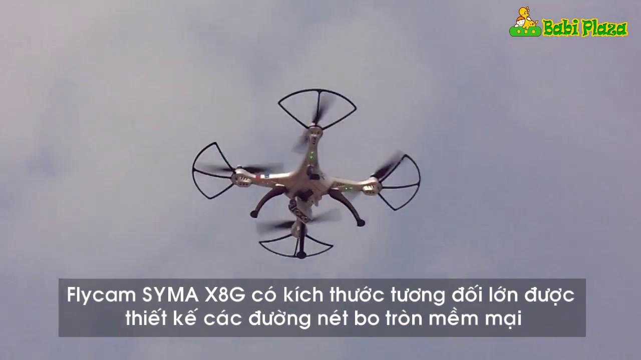 Bay thử Flycam SYMA X8G - Flycam giá rẻ quay phim full HD - YouTube