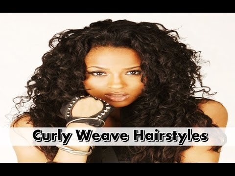 Curly Weave Hairstyles for African American Women - YouTube