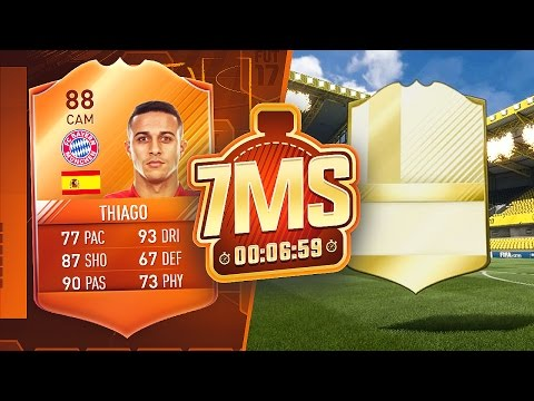 INSANE LEGEND PACKED IN A 7 MINUTE SQUAD BUILDER!! 88 MOTM THIAGO - FIFA 17 ULTIMATE TEAM