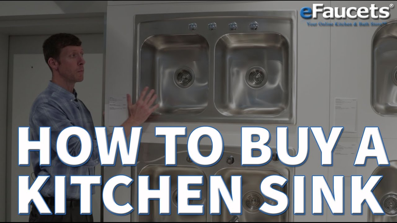 how to buy a kitchen sink efaucets com youtube Green Kitchen Sink Green Kitchen Sink