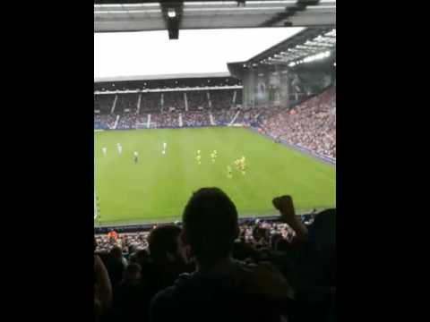 Gareth Barry chant Everton away at West Bromwich Albion