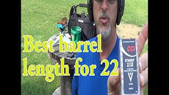 What is the best barrel length for .22 Long Rifle