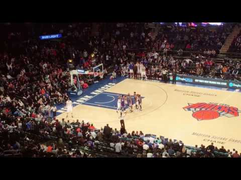 New York Knicks fans chant 'Derek Fisher' at Matt Barnes